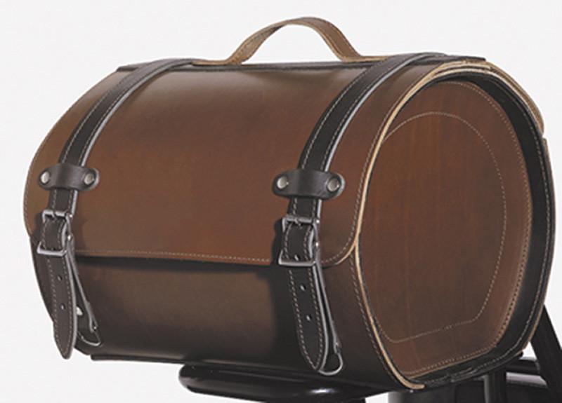 valise de porte bagage n20 28 5l cuir fendu brun pour kawasaki drifter motokristen. Black Bedroom Furniture Sets. Home Design Ideas