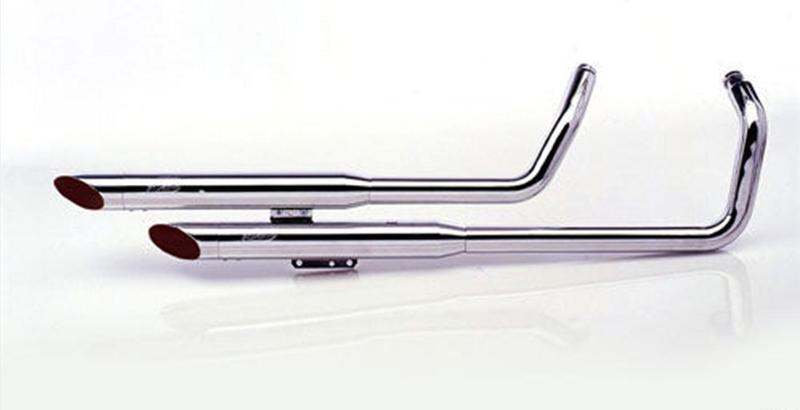 silvertail ligne ko2 2 en 2 acier chrom pour honda vt 125 shadow motokristen. Black Bedroom Furniture Sets. Home Design Ideas