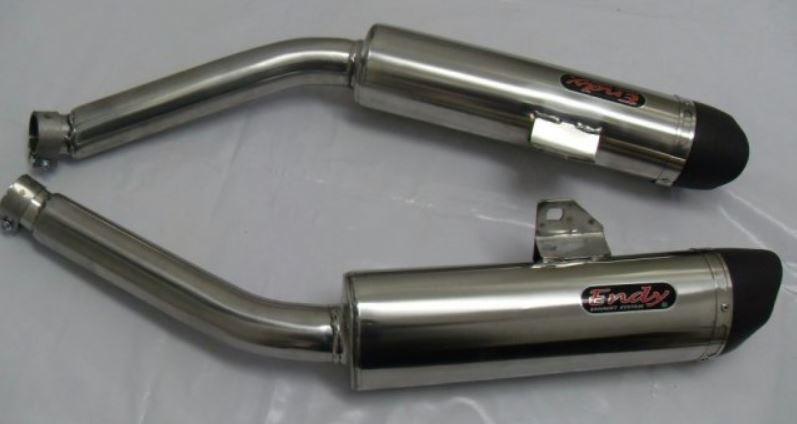 Endy 2 Silencieux Xr3 Inox Pour Yamaha Xj 600 Diversion